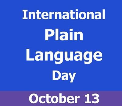 Celebrate International Plain Language Day