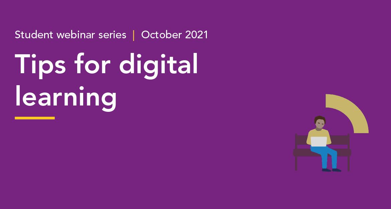 Digital learning Student webinar series