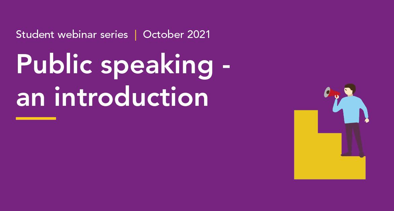 Public speaking Student webinar series