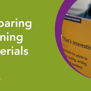 Preparing learning materials webinar