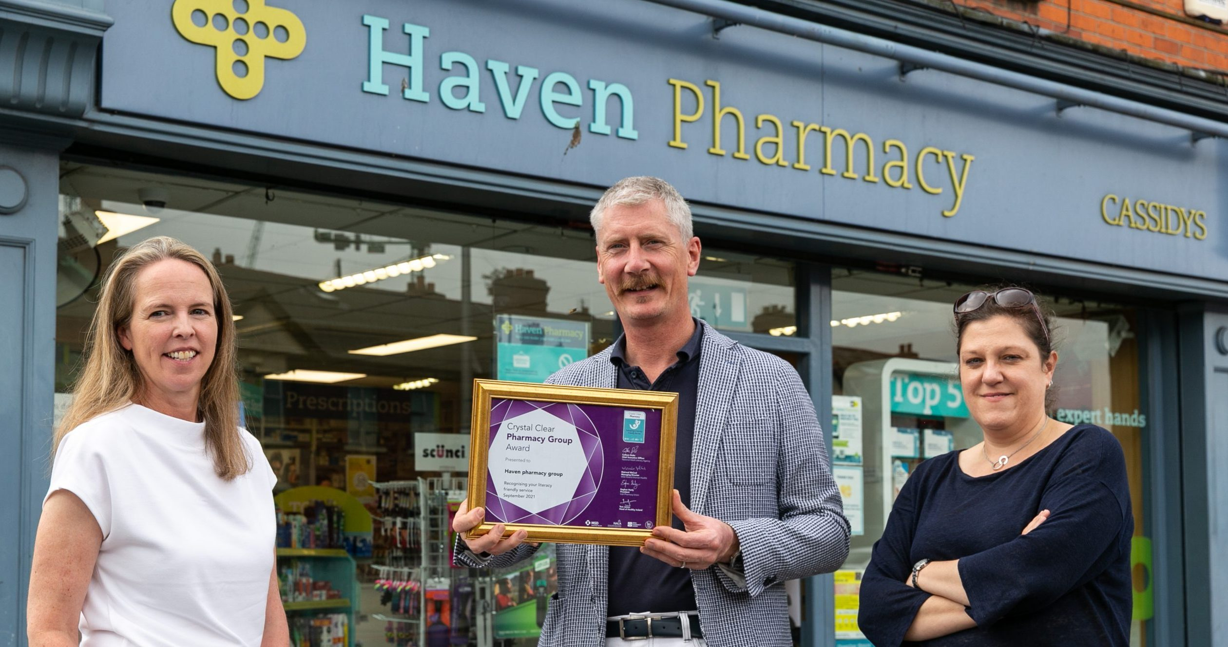 Haven Pharmacy group achieves health literacy quality mark for all branches