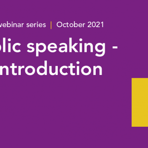 Public speaking - an introduction